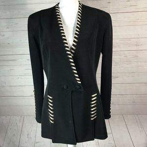 Cache | VTG lacing Details Blazer Jacket Black L